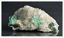 Green apophyllite crystals